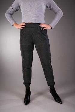 ZOE - czarne spodnie w kratkę