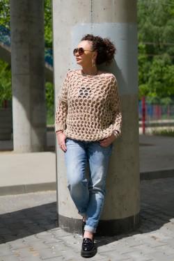 NITA - ażurowy sweter