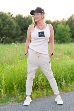 OLGA - beżowe spodnie sportowe